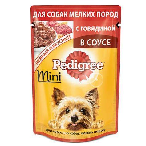 Фото - Корм для собак Pedigree мини с говядиной конс. пауч. 85г корм для собак pedigree мини с говядиной конс пауч 85г