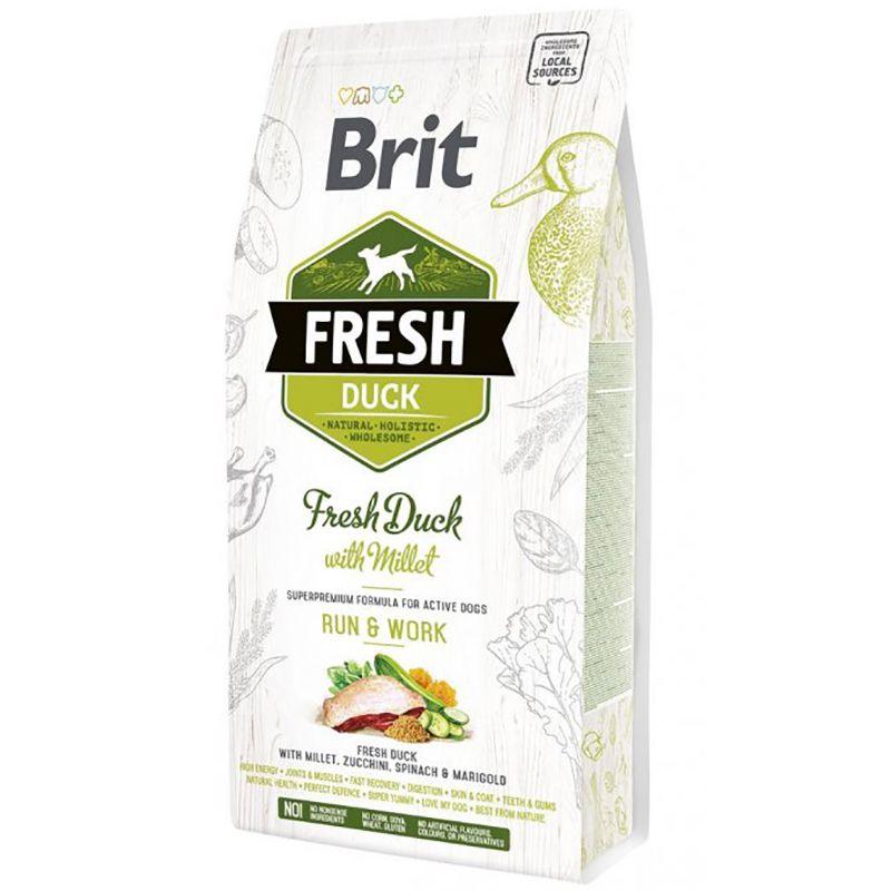 цена на Корм для собак Brit Fresh Утка с пшеном для активных собак сух. 2,5кг