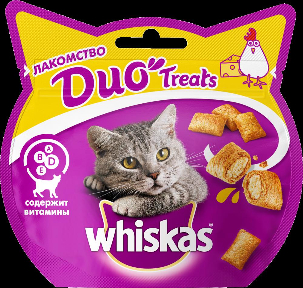 Лакомство для кошек Whiskas Duo курица, сыр 40г