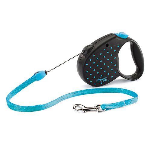 цена на Рулетка для собак Flexi Color S до 12кг, 5м голубая
