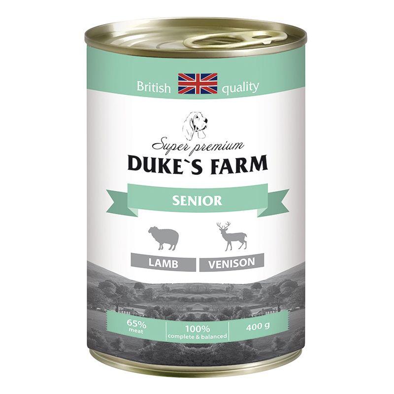 Фото - Корм для собак DUKE'S FARM для пожилых собак ягненок, оленина конс. 400г корм для собак monge fruit ягненок яблоко конс 100г