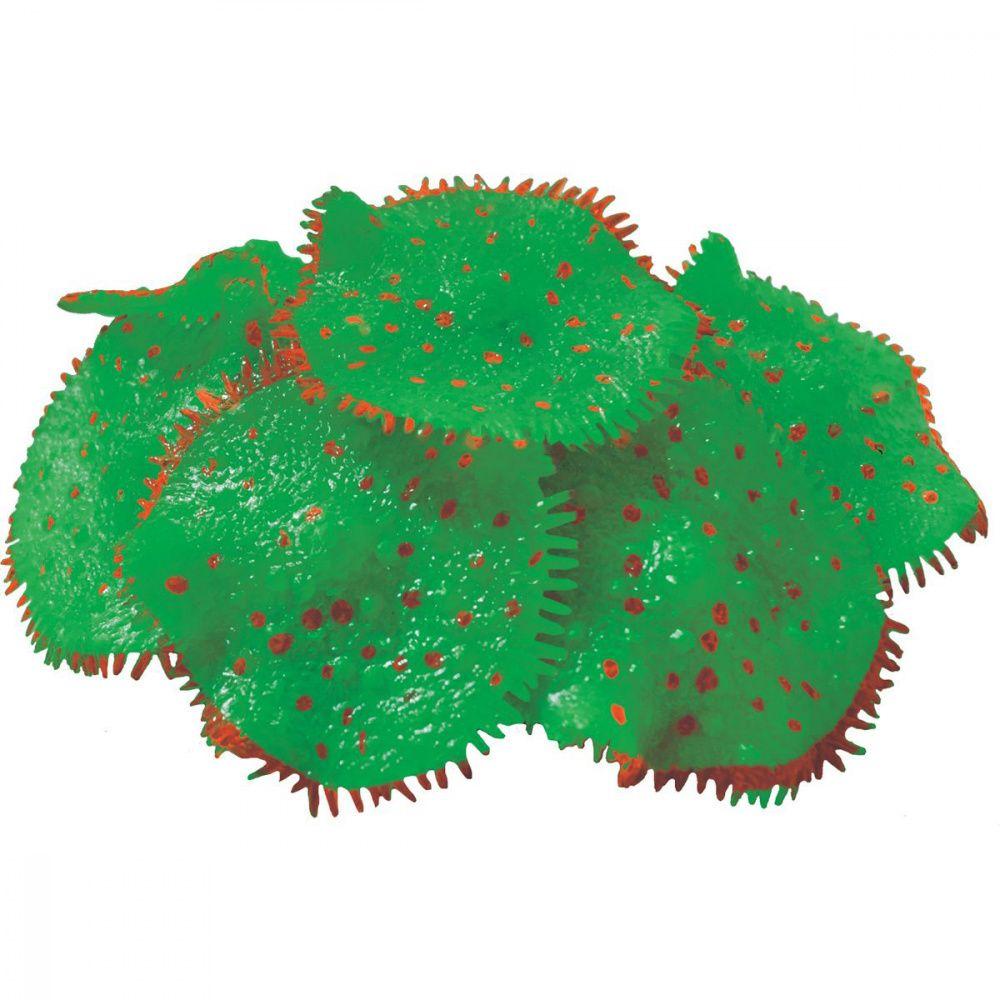 Декор для аквариумов JELLYFISH Коралл Ковровая Актиния светящийся зеленый D=10см