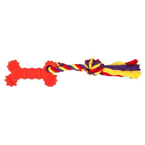Купить со скидкой Игрушка CHOMPER Puppy Кость с веревкой малая