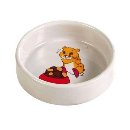 Миска для грызунов TRIXIE для хомяка 90мл ф8см керамическая trixie миска trixie для кошек двойная пластмассовая 2х0 2 л ø11 см