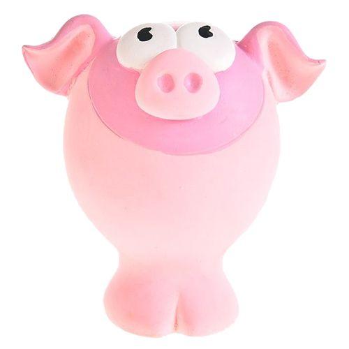 Игрушка для собак Foxie Свинка с пищалкой 10,5х7,5х9,5см латекс розовая