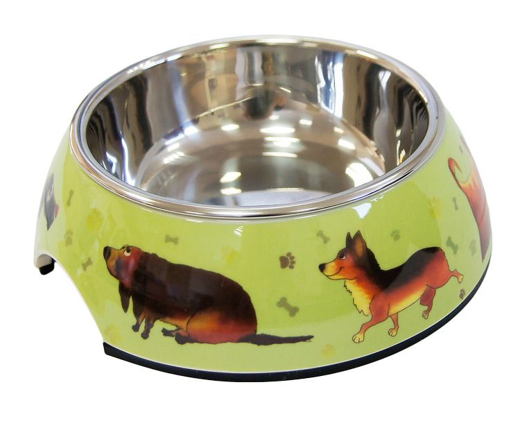 Миска для животных SUPER DESIGN Собачки на меламиновой подставке 0,16л