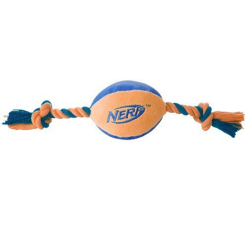 Игрушка для собак NERF Мяч плюшевый с веревками 37.5см nerf игрушка для собак nerf игрушка кормушка 7 см