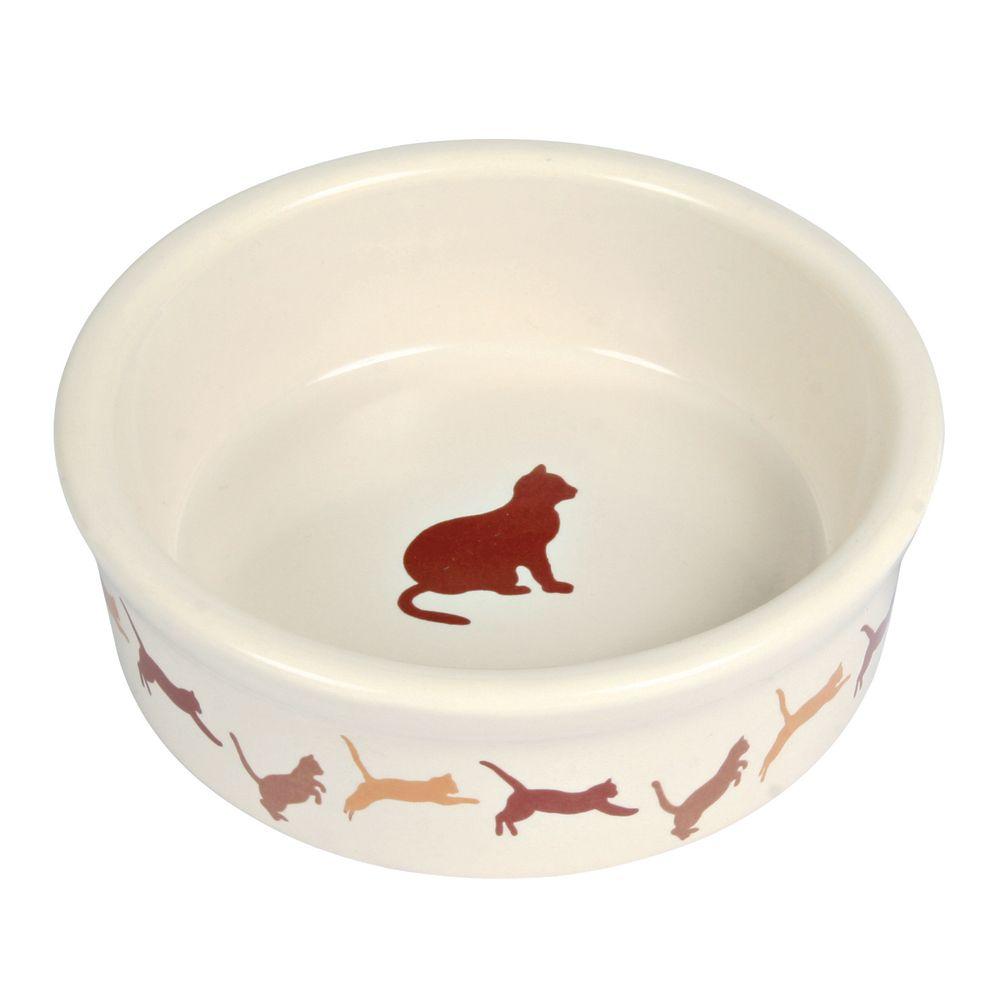Миска TRIXIE с рисунком Кошки керамическая 250мл 11см