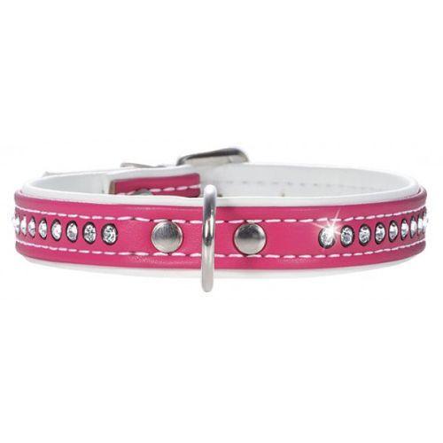 Ошейник для собак HUNTER Modern Luxus 37/13 кожзам розовый 28-33,5см