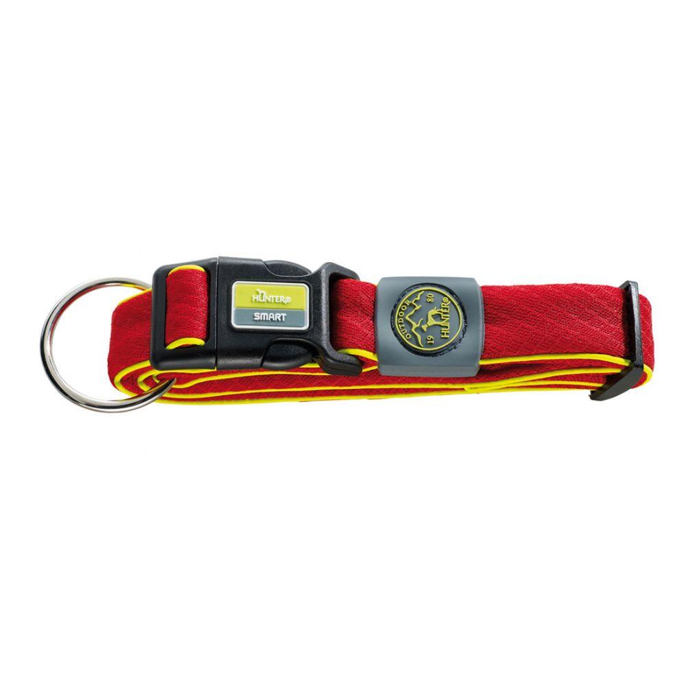 Ошейник для собак HUNTER Maui L (42-65 cм)/3,2см сетчатый текстиль красный