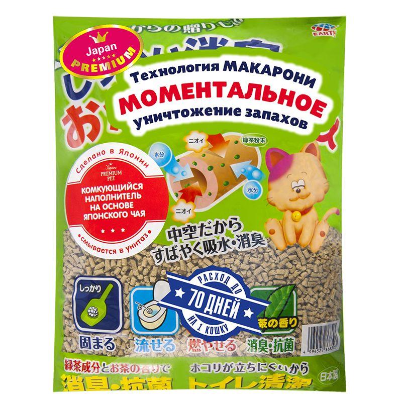 Наполнитель для кошачьего туалета Japan Premium Pet ультракомкующийся на основе японского чая 7л