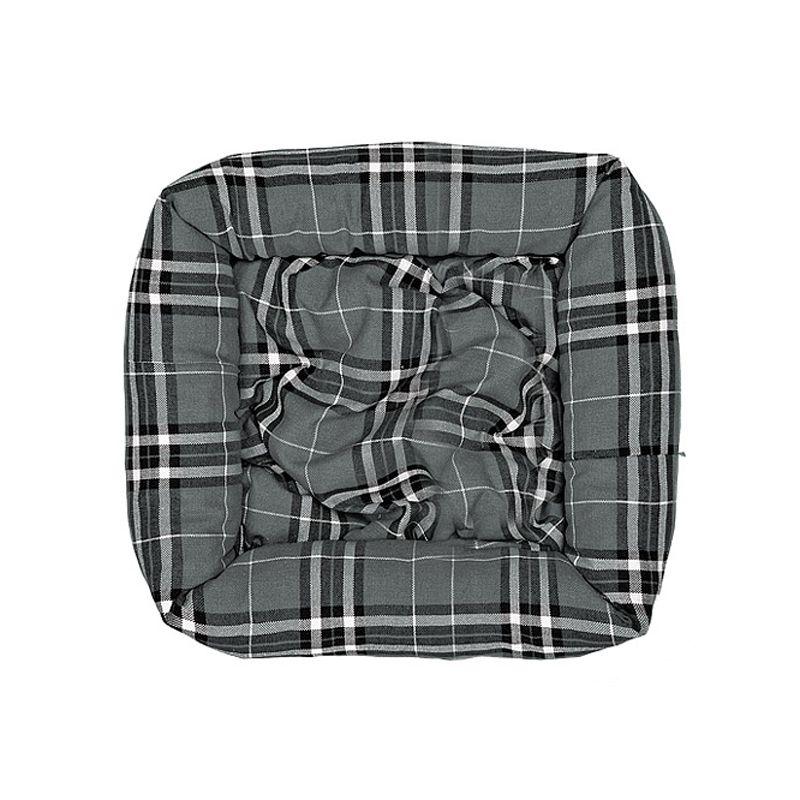 Лежак для собак HAPPY PUPPY Бейкер стрит серый 50х50