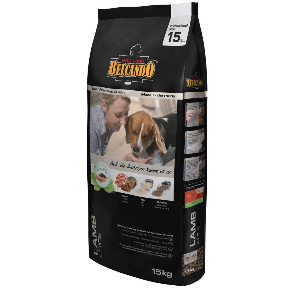 Корм для собак Belcando для всех пород ягненок, рис сух. 15кг корм для собак dr alder s my lord премиум gold regular 100%мясо птицы рис сух 15кг