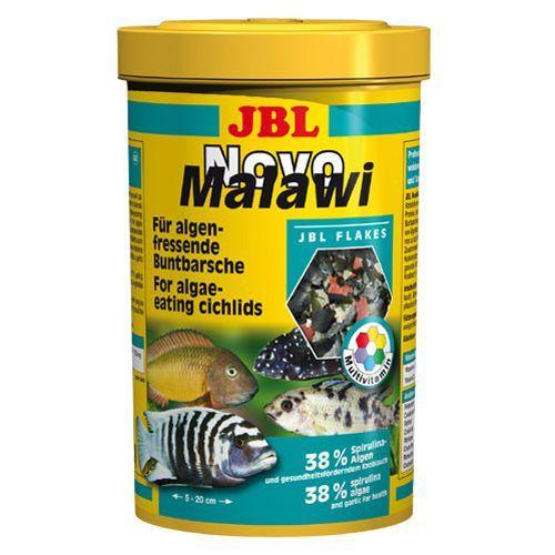 Корм для рыб JBL NovoMalawi Корм в форме хлопьев для растительноядных цихлид 250мл. (38г)