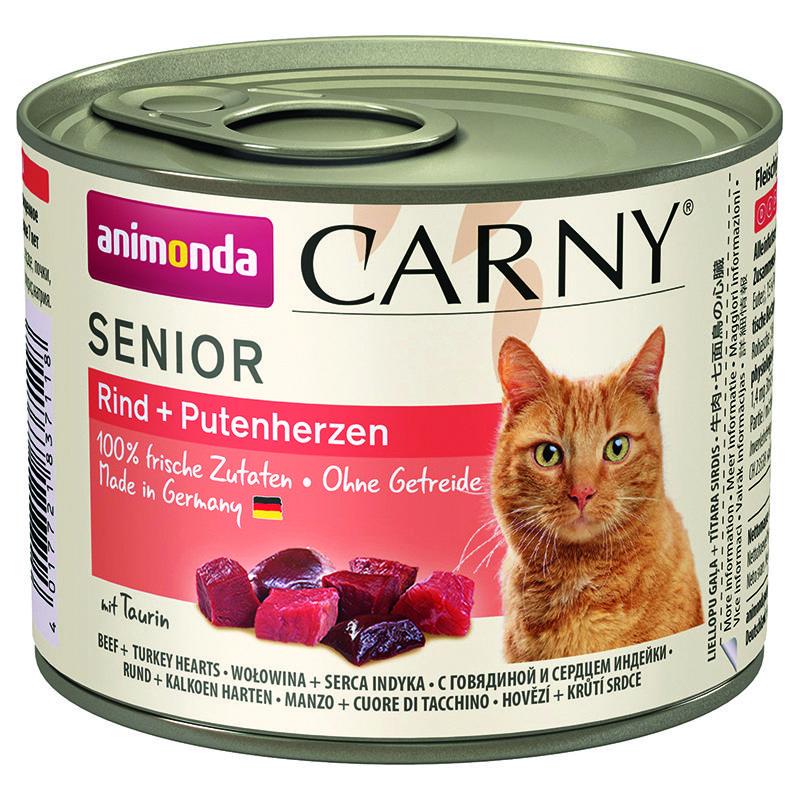 Корм для кошек Animonda Carny Senior для стареющих кошек говядина, сердце, индейка конс. 200г корм для кошек animonda carny говядина ягненок конс 200г
