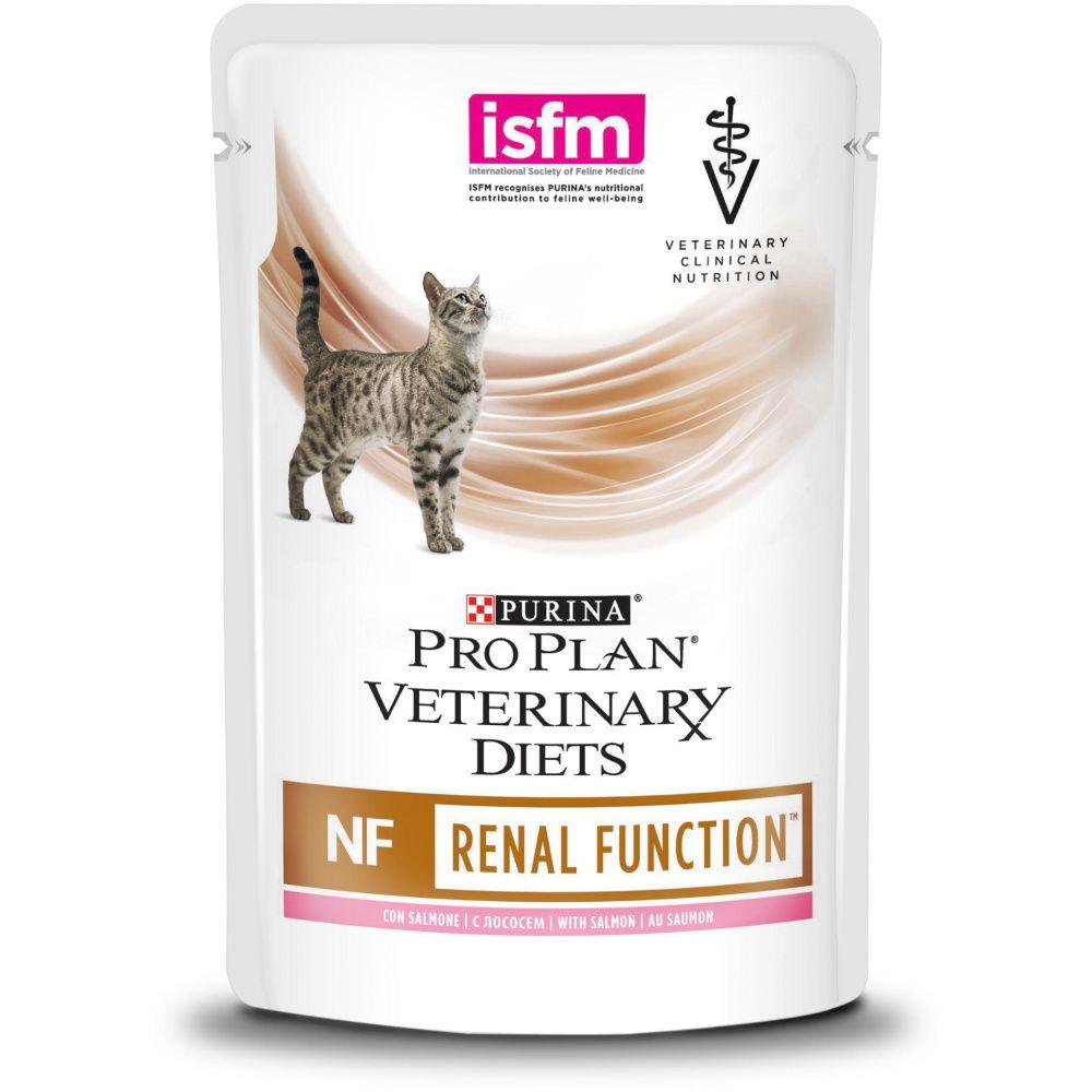 Корм для кошек Pro Plan Veterinary Diets NF при патологии почек, лосось пауч 85г