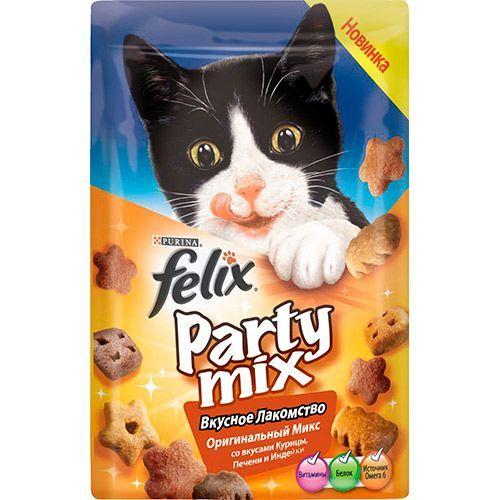 Лакомство для кошек FELIX Party mix Оригинал Микс 20г