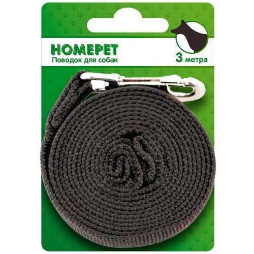 Поводок для собак HOMEPET нейлоновый 3м с карабином 25мм поводок homepet 3 метра с карабином 18мм