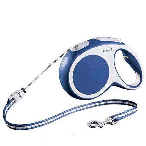 Рулетка для собак Flexi Vario Long M до 20 килограмм, трос 8м синяя цена в Москве и Питере