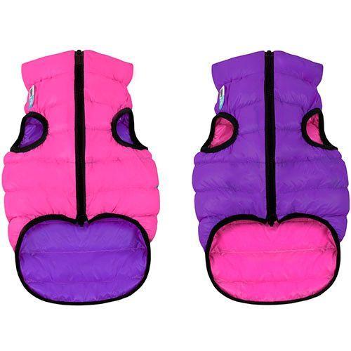 Куртка для собак AiryVest двухсторонняя размер S 30см розово-фиолетовая