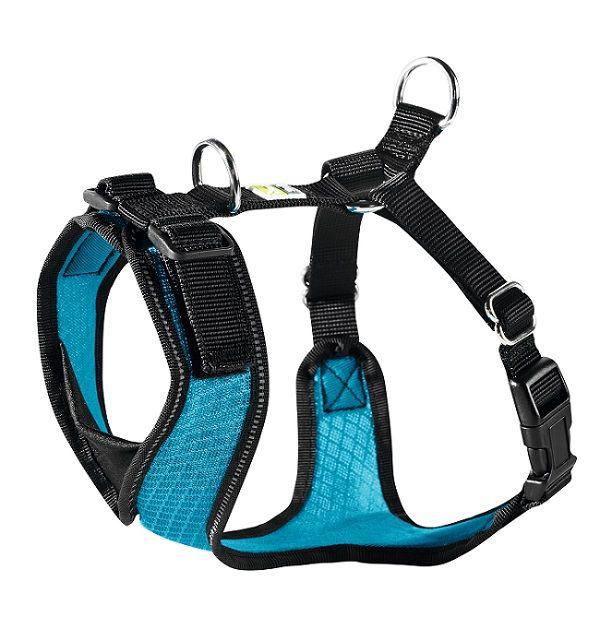 Шлейка для собак HUNTER Manoa M (44-55см) нейлон/сетчатый текстиль Голубой шлейка для собак hunter manoa xs 35 41см нейлон сетчатый текстиль черный