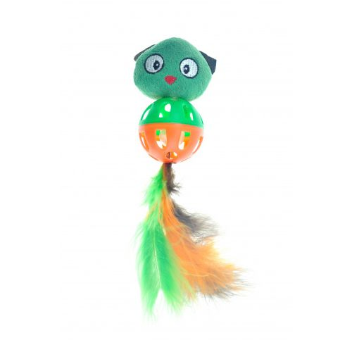 Игрушка для кошек CHOMPER Into the Woods Дразнилка Птичка с хвостом из пера
