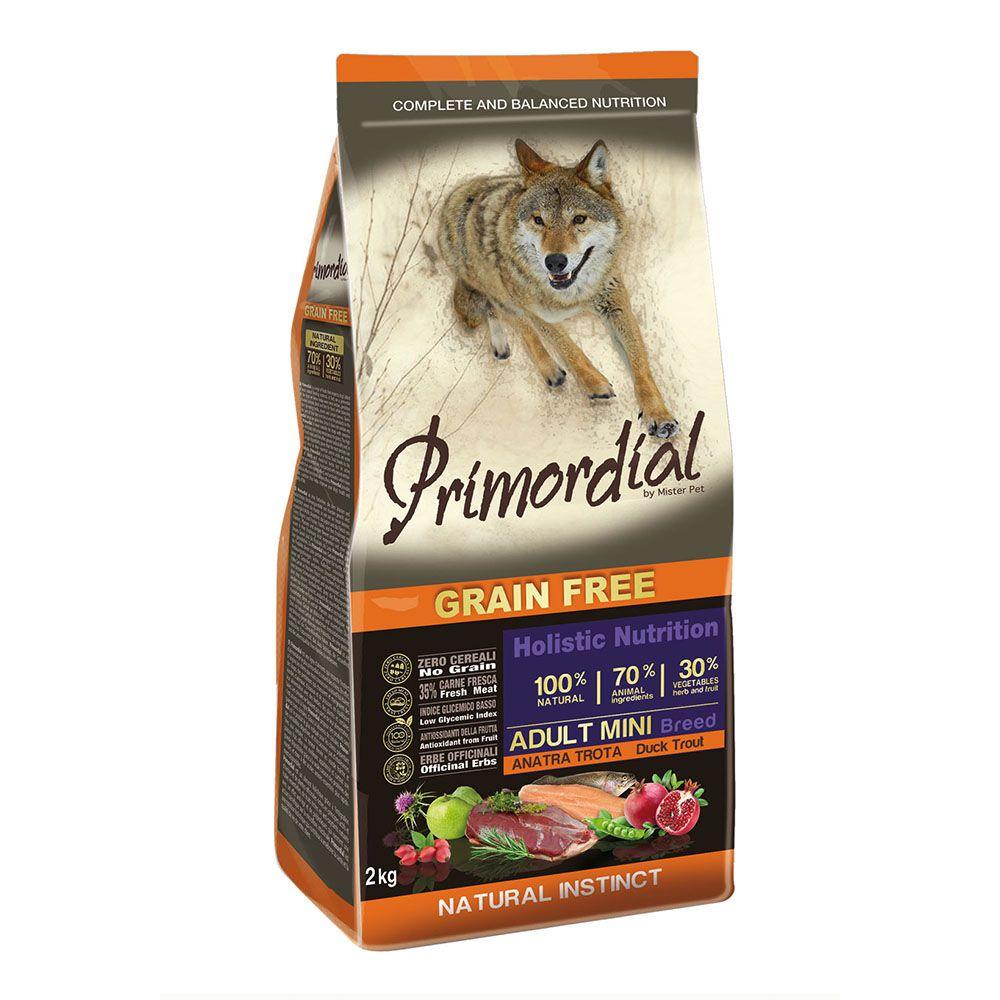 Корм для кошек PRIMORDIAL беззерновой форель, утка сух. 2кг