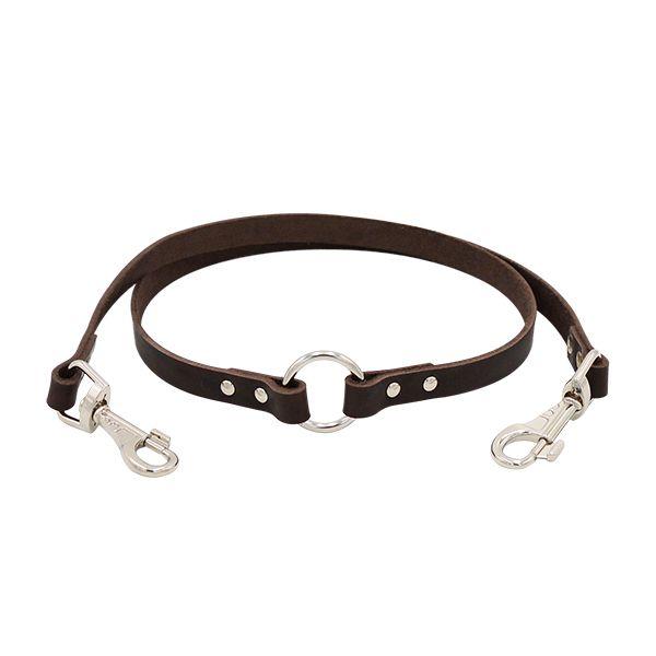 Купить со скидкой Поводок-сворка для собак ZOOEXPRESS 1сл 14мм 60см коричневый