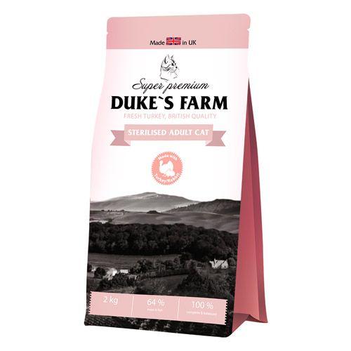 Корм для кошек DUKE'S FARM для стерилизованных кошек, индейка с кроликом сух. 2кг
