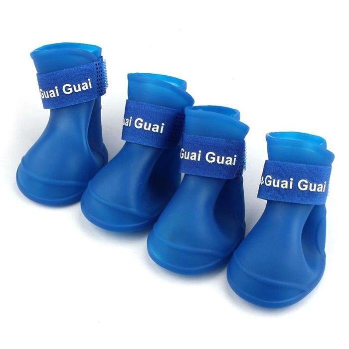 Ботинки для собак ГРЫЗЛИК АМ силиконовые синие размер S 4,3х 3,3см