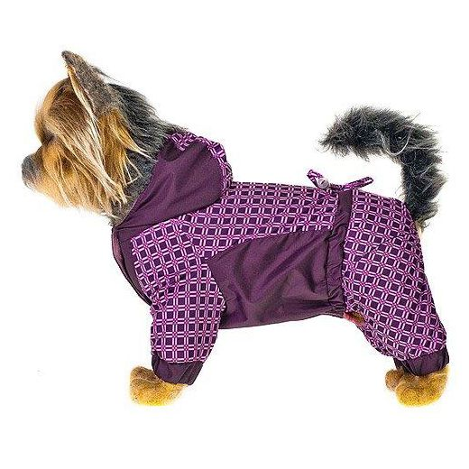 Комбинезон для собак HAPPY PUPPY Орнамент розовый-3 лежак для собак happy puppy узоры 3 57х44х15см