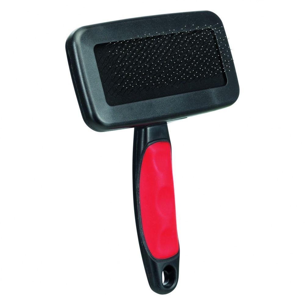 Щетка-пуходерка TRIXIE мягкая с пластиковой ручкой + расческа 13,5х10см