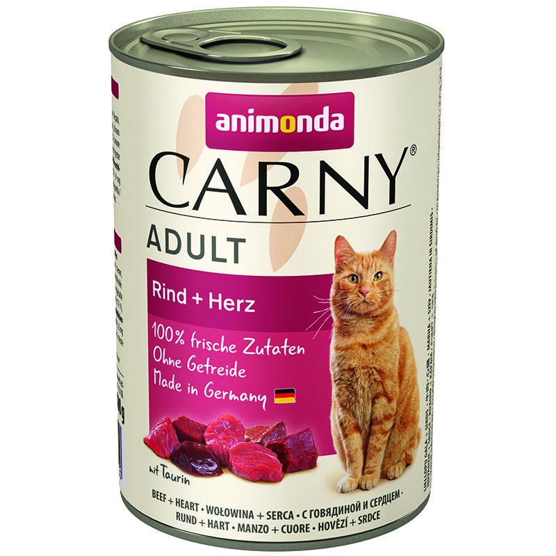 Корм для кошек Animonda Carny Adult говядина, сердце конс. 400г корм для кошек animonda carny говядина ягненок конс 200г