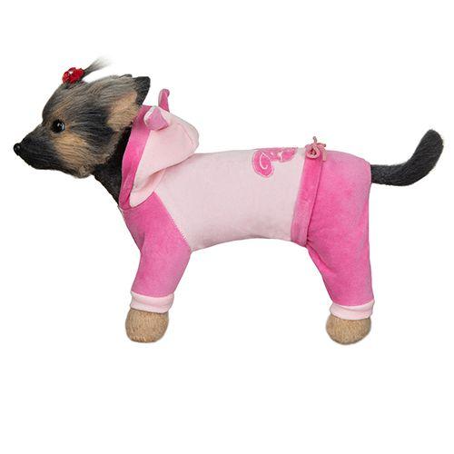 Комбинезон для собак Dogmoda велюровый Зайка-2 24см комбинезон для собак dogmoda сова унисекс цвет оранжевый бежевый размер 2 m
