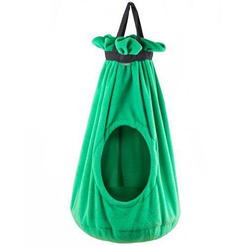 Домик для кошек TITBIT подвесной зеленый h 70см