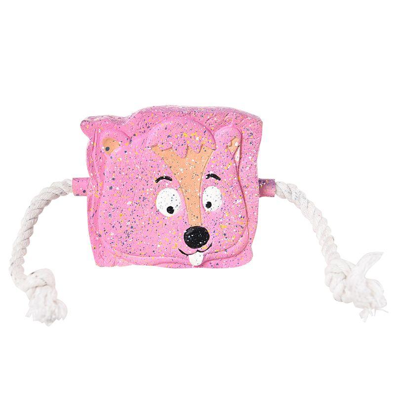 Игрушка для собак Foxie Тост с пищалкой и канатами 11см латекс розовый игрушка для животных multipet утка с пищалкой цвет розовый