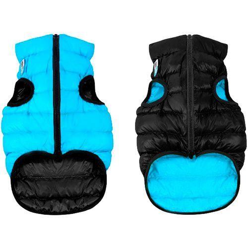 Куртка для собак AiryVest двухсторонняя размер L 55см черно-голубая