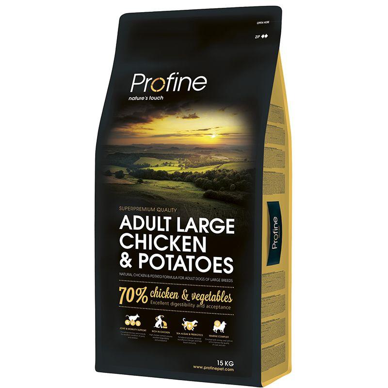 Фото - Корм для собак PROFINE для крупных пород курица, картофель сух. 15кг корм для собак hill s science plan для крупных пород от 25кг курица сух 12кг
