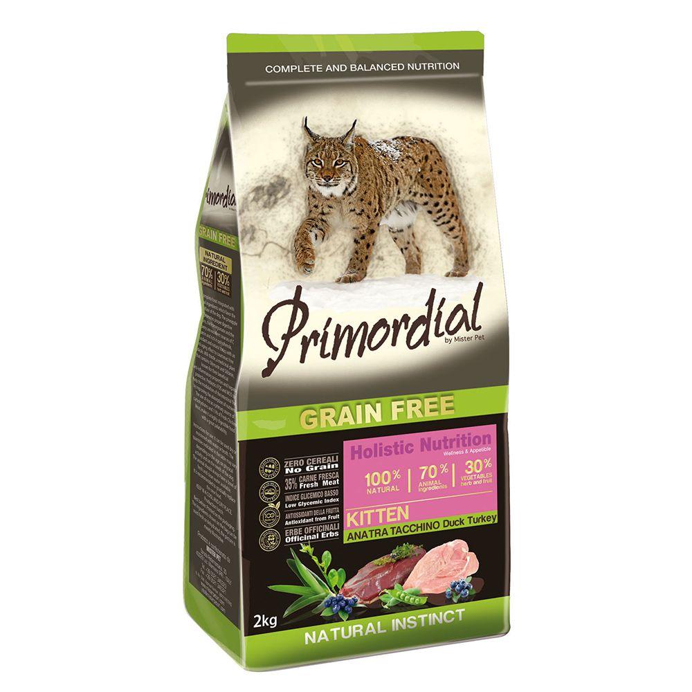 Корм для котят PRIMORDIAL беззерновой утка, индейка сух. 2кг