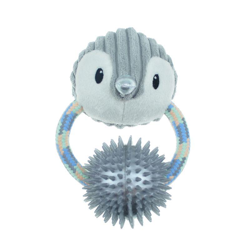 Игрушка для собак CHOMPER Let It Snow Пингвин на кольце с резиновым мячом и пищалкой 18 см