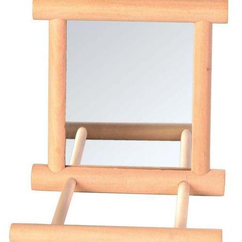 Игрушка для птиц TRIXIE Деревянное зеркало с жердочкой 9x9см