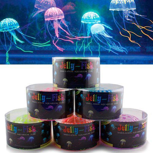 Декор для аквариумов JELLYFISH Медуза силиконовая с неоновым эффектом, маленькая, D=5см ваза 29 5см marquis