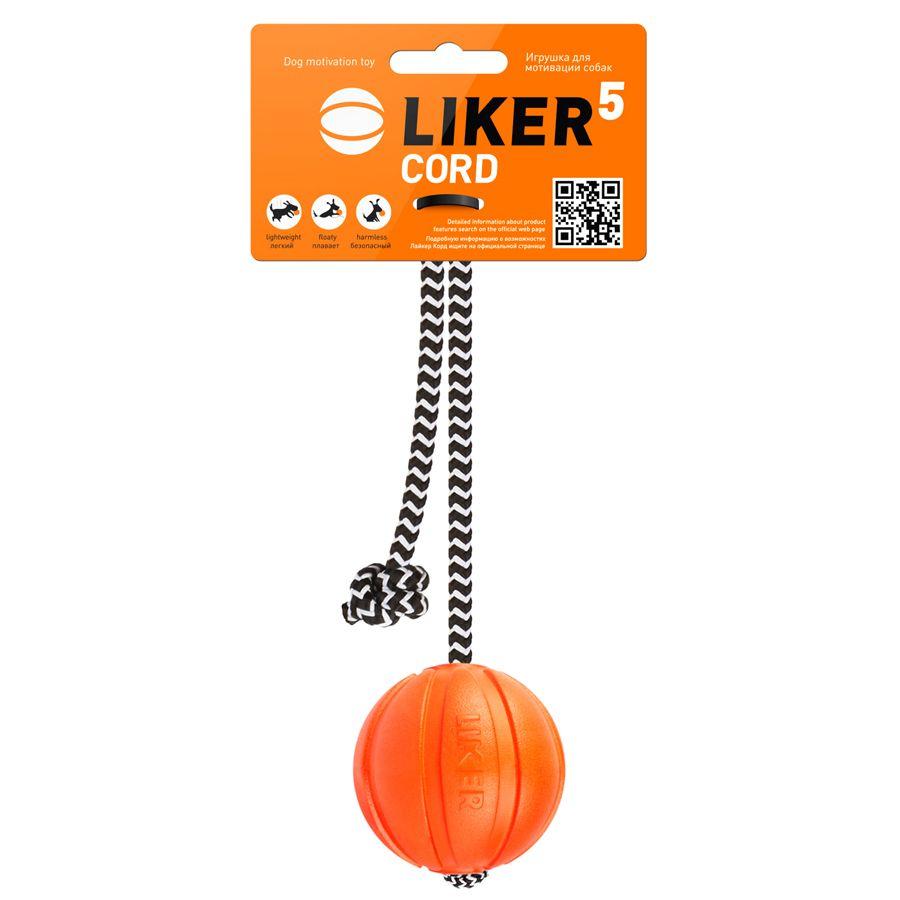 Игрушка для собак LIKER Мячик Корд на шнуре 5см оранжевый ваза 29 5см marquis