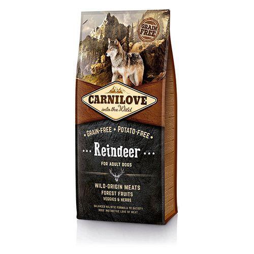 цена на Корм для собак Brit Carnilove беззерновой, северный олень сух. 12кг