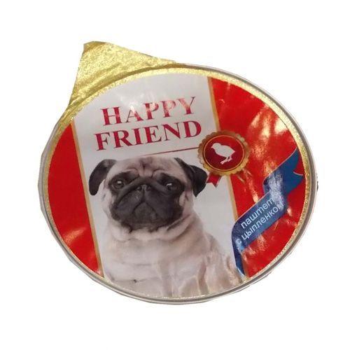 Корм для собак HAPPY FRIEND Паштет с цыплёнком конс.125г