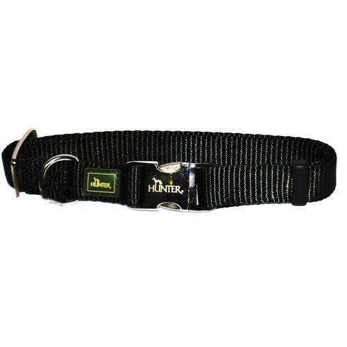 Ошейник для собак HUNTER ALU-Strong 4/25, нейл.черный