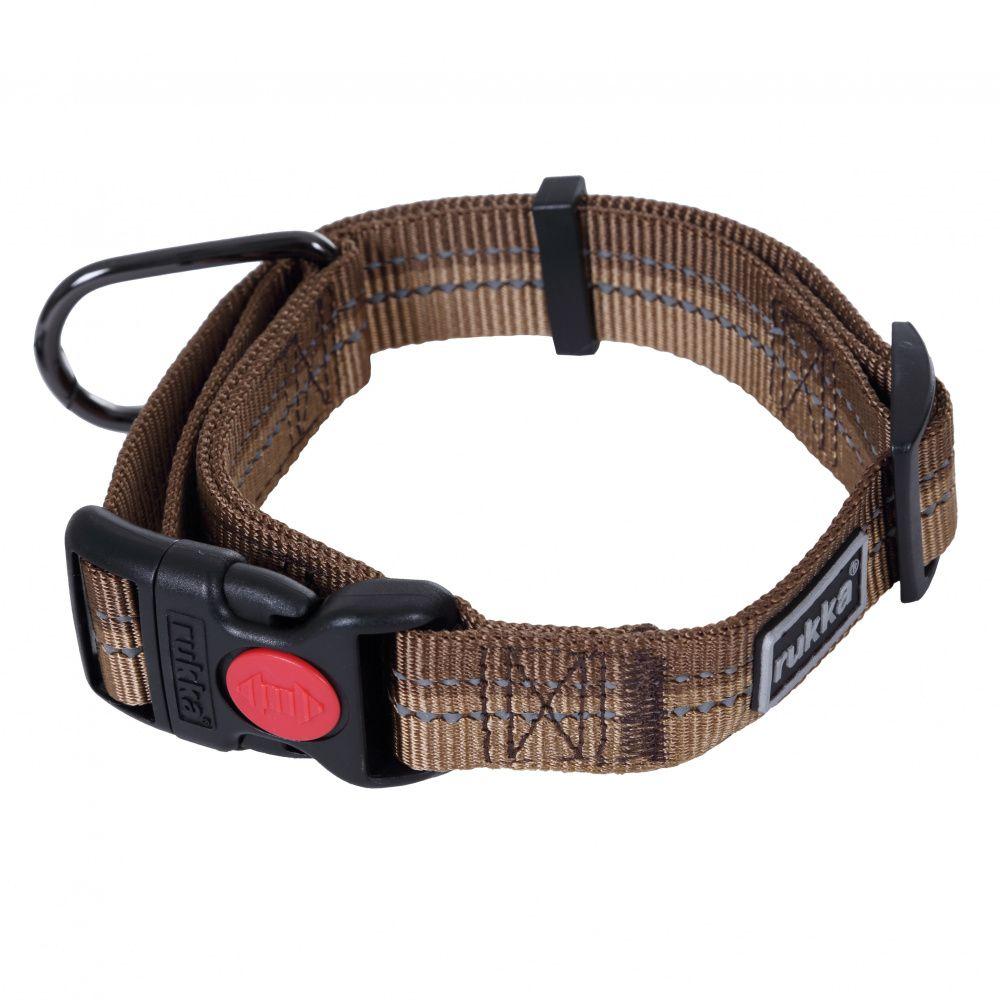 Ошейник для собак RUKKA Beam 25мм/30-50см коричневый printio birdman
