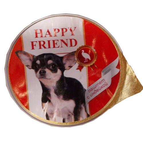 Корм для собак HAPPY FRIEND Паштет с индейкой конс. 125г