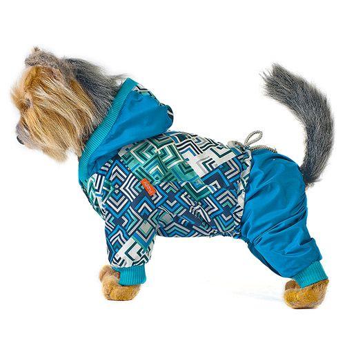 Комбинезон для собак HAPPY PUPPY Сити синий 2 24см фото