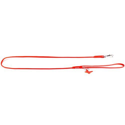 Поводок для собак COLLAR Glamour круглый 4мм 122см оранжевый collar glamour ошейник collar glamour без украшений ширина 20 мм длина 30 39 см розовый
